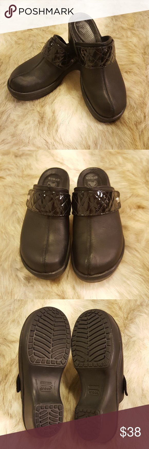 Women's Crocs Sarah Clog Black Size W7 * Gently worn! Nice condition. I wasn't able to find another pair like this online! * Size and Weight included in pics. * Fast shipping! * Offers welcome. Bundle to save $$$! * Art courtesy of A Room Full of Paintings. Use PROMO CODE: SweetTeeTab for 20% off! Link below. https://www.aroomfullofpaintings.com/ crocs Shoes Mules & Clogs