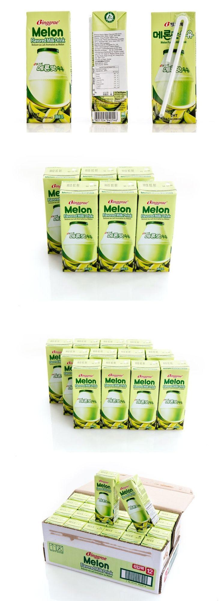 低至$5.9一盒韓國Binggrae香蕉牛奶 /士多啤梨牛奶/蜜瓜牛奶!韓國國民飲品!   Food