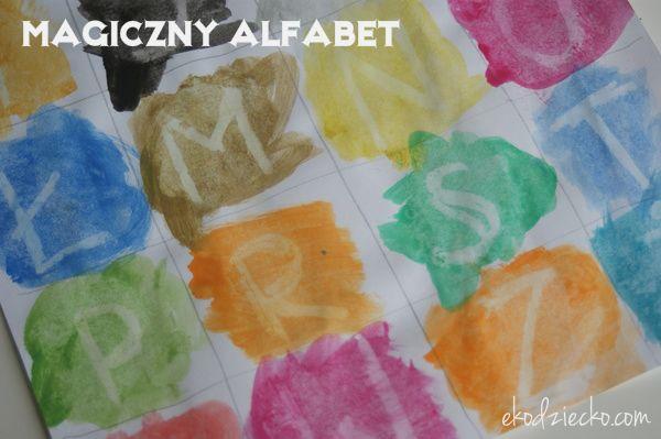 Magiczny alfabet nauka liter, alfabetu, czytania.  Magical alphabet Learning the letter, alphabet, reading.
