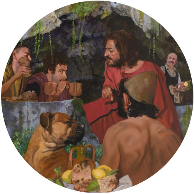 André Durand SUPPER AT EMMAUS WITH ULYSSES & ARGO 2013 (Ø 100)