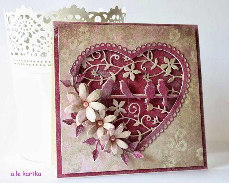 Скрап открытки и бисера, трехлетием свадьбы