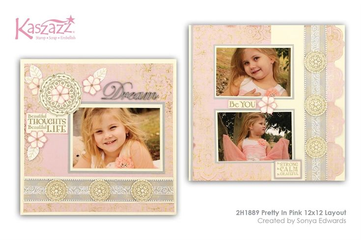 2H1889 Pretty In Pink 12x12 Layout