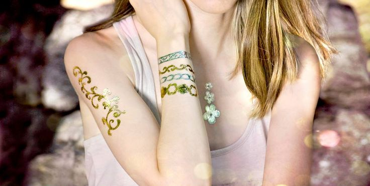 Shine everyday with our PRECIOUS collection of temporary tattoos, in a mixt of gold and silver tattoos to give your outfit the deserved charm! Awesome for every ocasion, you can ware this collection wherever you want, party, beach or as a everyday look! by PRECIOUS