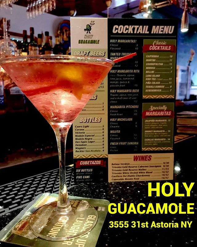 We have NEW cocktails Menu!!!! Caipirinha Cosmopolitan Martini Long Island Ice Tea and more!!!! Come and try our delicious Holy Drinks! We open 7 days per week!!!! Visit us!!!! Happy Hour Monday to Friday 12pm to 7pm! #holyguacamolenyc #mexicanrestaurant #mexicanfood #mexicangastronomy #mexicancuisine #cocktails #margaritas #beers #drinks #cheers #foodies #foodporn #foodie #happyhour #happyhournyc #presidentsday