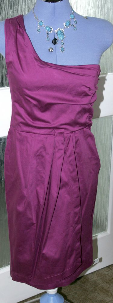 George ladies purple calf length,Cotton Blend,evening dress ina size8 petite