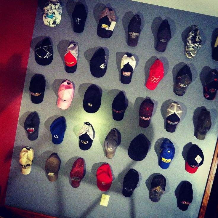 Hat wall, hat rack lol So screaming my husbands name! - 25+ Best Ideas About Wall Hat Racks On Pinterest Hat Racks, Diy
