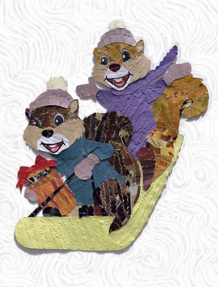 Nothing like squirrels on a sled to say Happy Holidays.