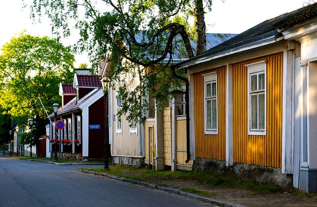 Old wooden district in Kokkola