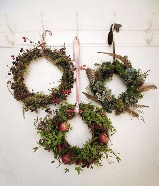 Seasonal Christmas wreaths from The Garden Gate Flower Company