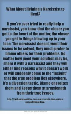 What about helping a narcissist to heal? : Timeline Photos - THE CEMENT BENCH