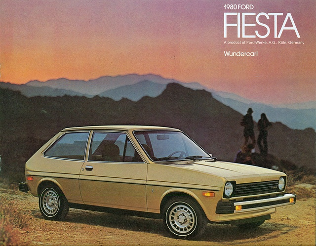 1980 Ford Fiesta - mine had a brown stripe down the side. My first car!!