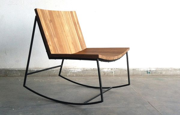 Reclaimed teak rocker. Designed by Alessandro Latini.