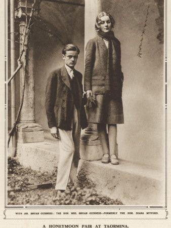 Bryan Guiness and Diana Mitford - honeymoon photo