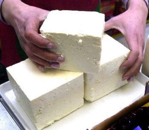 "Making Feta cheese - filing this under ""homesteading"" instead of ""food"" because it's more than just a recipe. Woohoo!"
