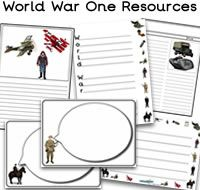 Lots of  great World War 1 teaching resources - Resources for events like the World War One Christmas truce,  there are WW1 worksheets and lots more printables covering The Great War.