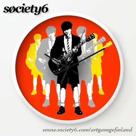 Sold!..thanks to the recent buyer of this wall clock from my @society6 webstore here https://society6.com/product/angus-young-lol_wall-clock#s6-1424076p33a33v282a34v285  #takingthelead #popart #society6 #rocknroll #heavymetal #rockoclock #art #guitarist #legendsofrock #ticktock #angus #rockclock #clock #clocks #art #artist #graphicdesign #homedeco #music #graphic #wallclock #s6 #shareyoursociety6 #guitars #illustration #acdc #angusyoung #acdcfans #highwaytohell #thunderstruck #backinblack