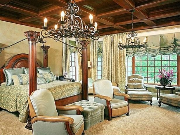 Beautiful Master Bedroom - Love the coffered ceilings