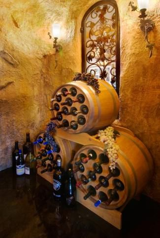 Wine rack from the barrels