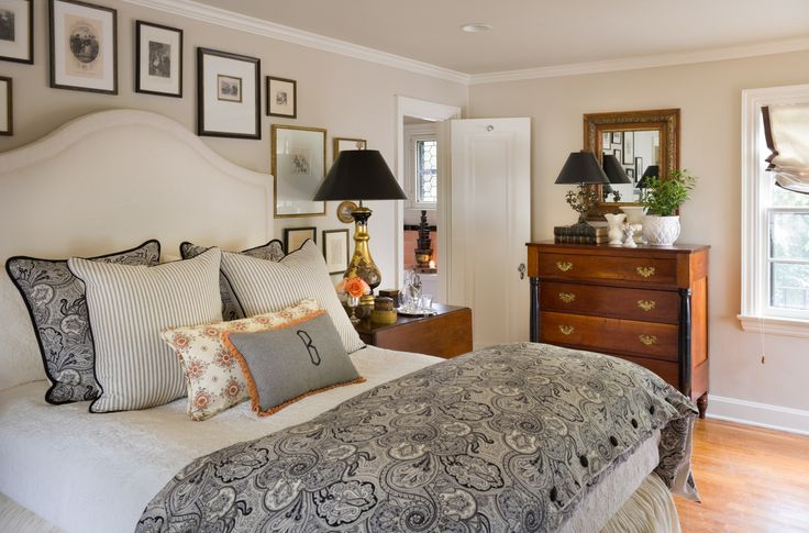 Nell Hill - Black White - Master Bedroom - Gallery Wall