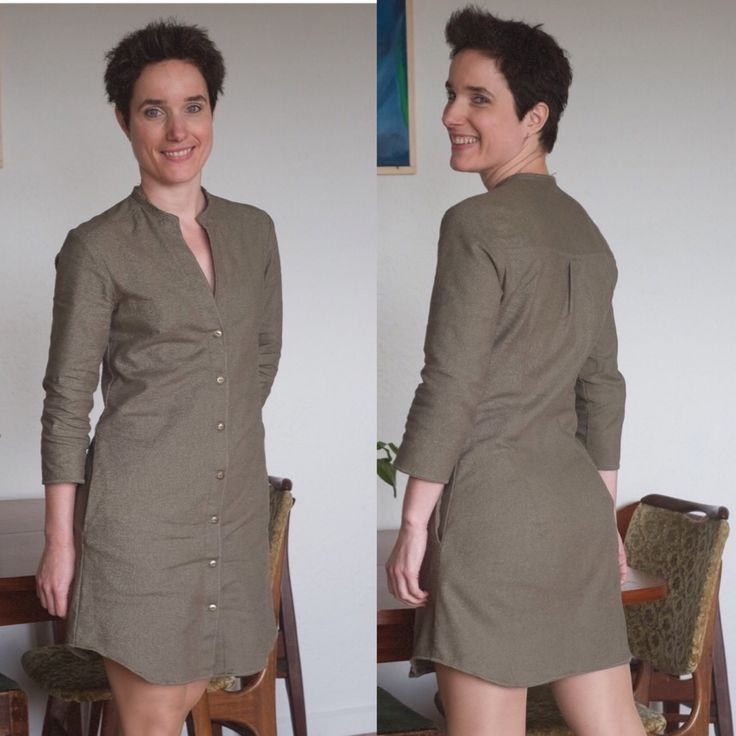 Made a linen dress.