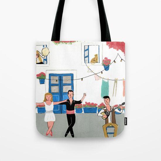 Greece Tote Bag by Luisa Méndez | Society6