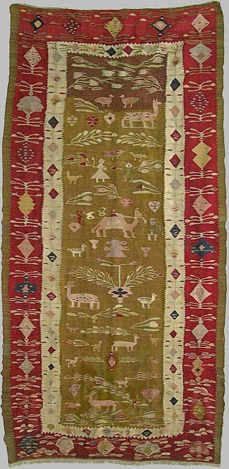Flat woven kilim, Romania, 1788