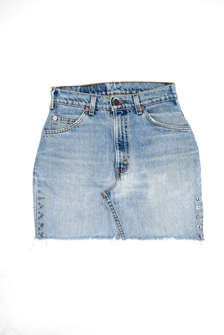 Levis Skirt, Reworked denim skirt for women, levis skirt for women, denim levis for women, reworked denim skirt for women.