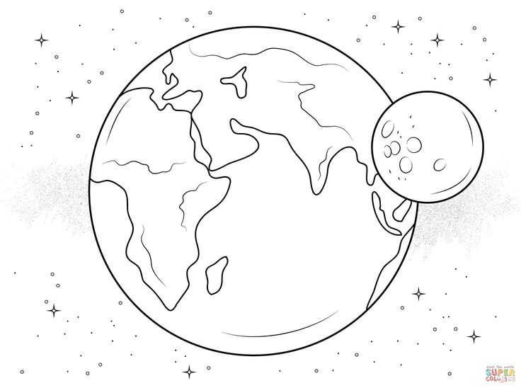 Click The Earth And Moon Coloring Pages To View Printable Version Or Color It Online Compatible