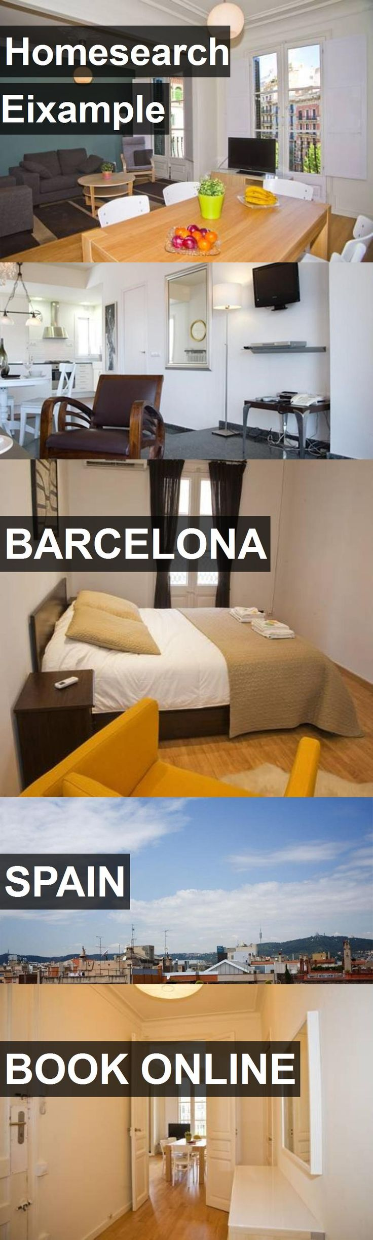Hotel Homesearch Eixample in Barcelona, Spain. For more information, photos, reviews and best prices please follow the link. #Spain #Barcelona #travel #vacation #hotel