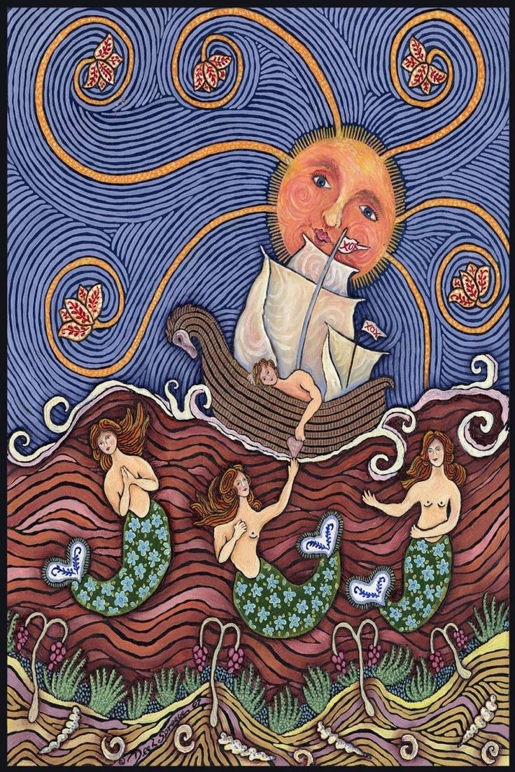 Mermaid In Love Large Print by mermaidmessenger on Etsy