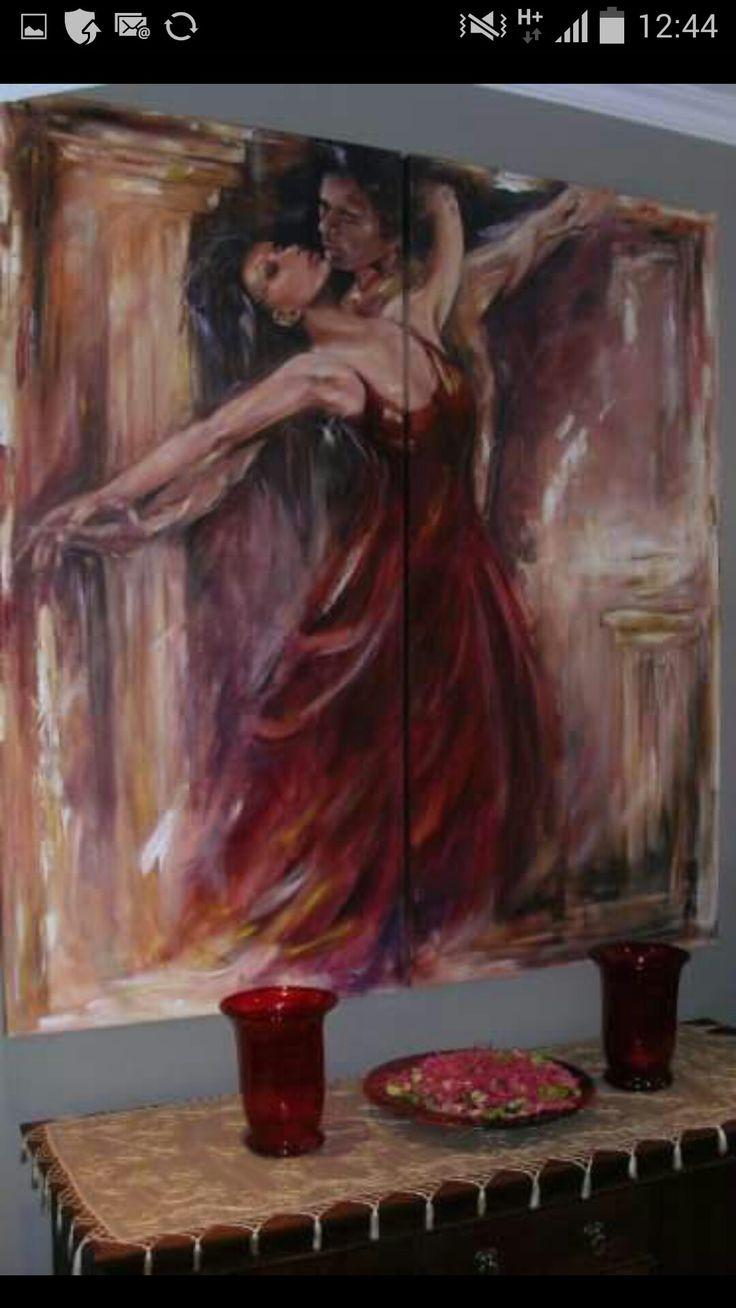 oil on large fouble canvas by Mandy