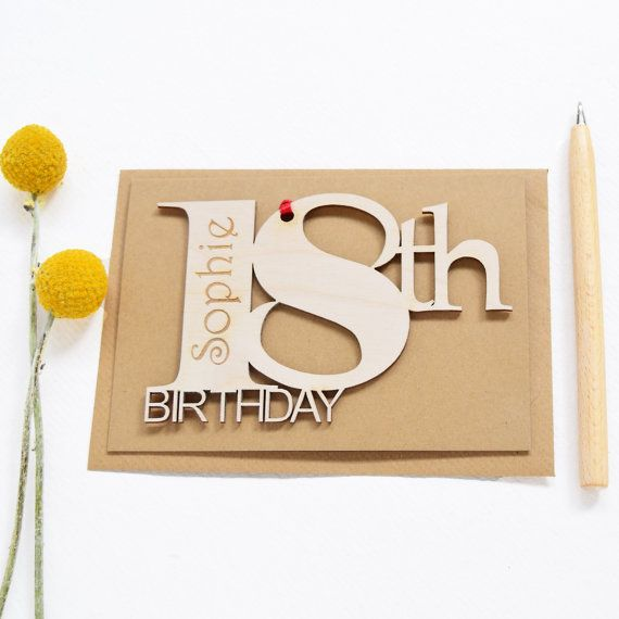 16th Birthday18th Birthday Gift18th Birthday Present By: 25+ Best Ideas About 18th Birthday Cards On Pinterest