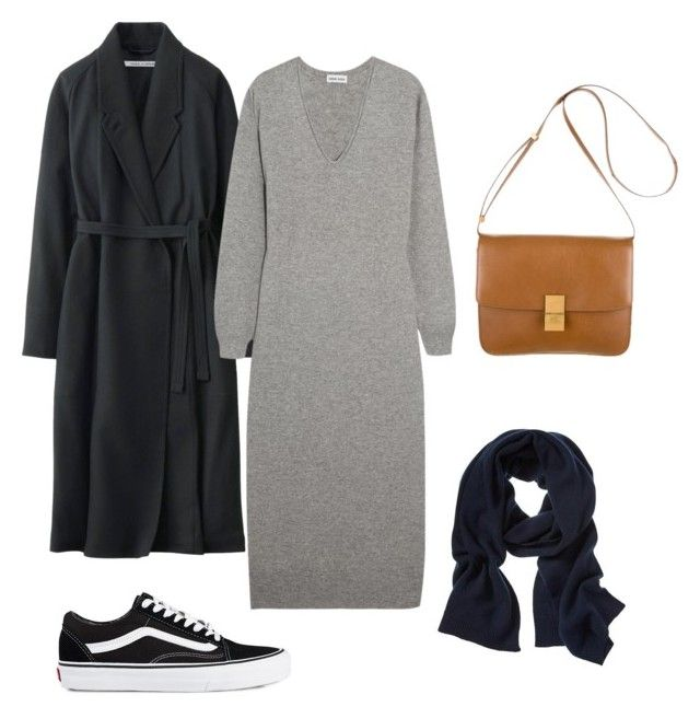 """Get cozy"" by deborarosa ❤ liked on Polyvore featuring Vans, Uniqlo, Tomas Maier, CÉLINE and Banana Republic"