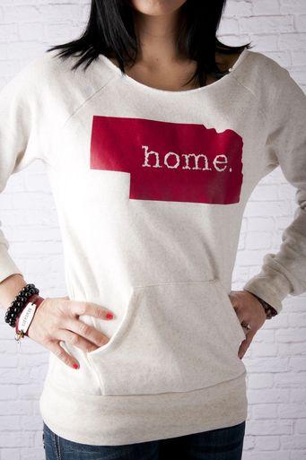 Nebraska home Crew neck sweatshirt #509Broadway