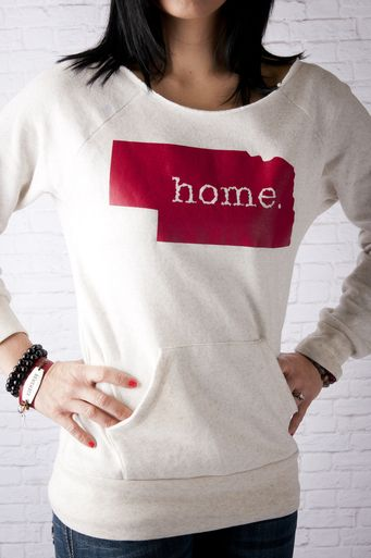 Nebraska home Crew neck sweatshirt #509Broadway