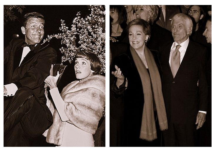 Oh...the feels...Julie Andrews and Dick Van Dyke at the Mary Poppins premiere in 1964 and at the Saving Mr. Banks premiere in 2013.