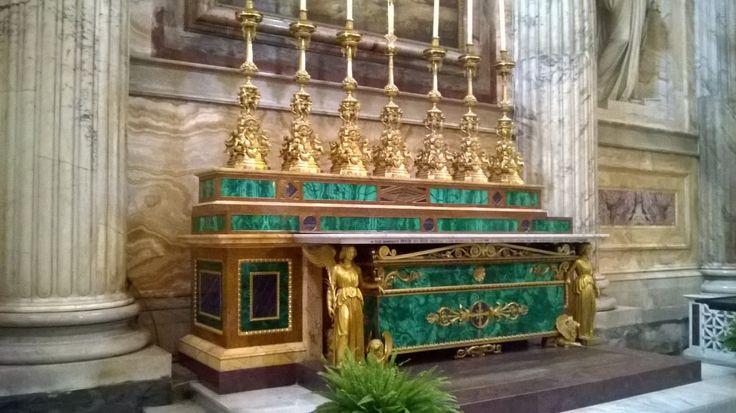 Altare in malachite, Basilica di San Paolo, #Roma