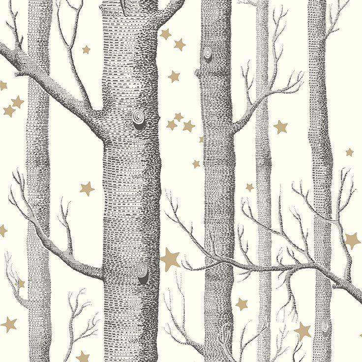 Cole & Son Whimsical_Woods & Stars 103-11050 Cole & Son behang wallpaper behangpapier behang woonkamer behang slaapkamer behang kinderkamer interieur design