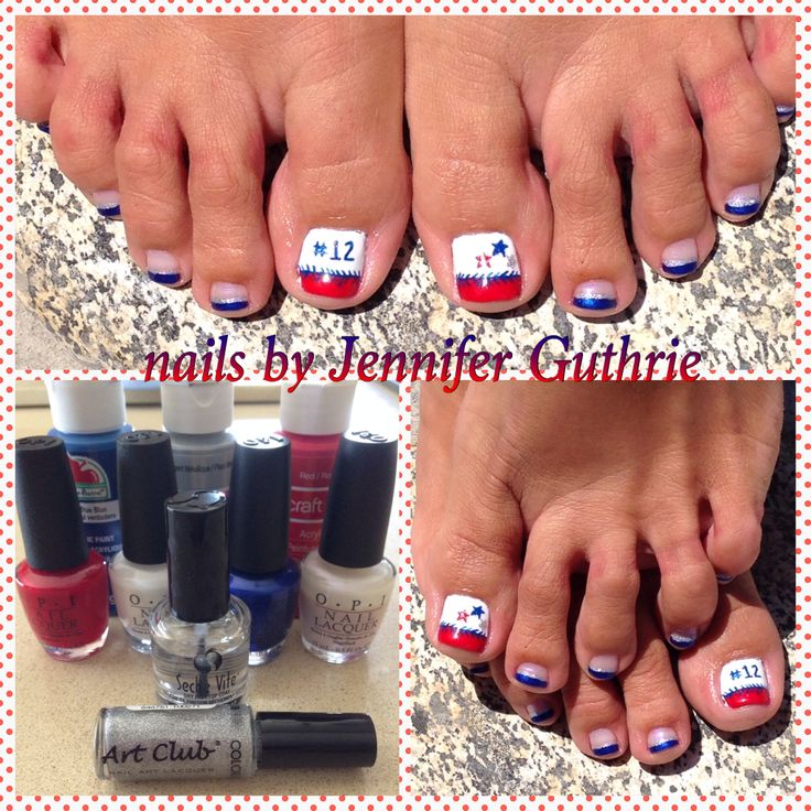 25 beautiful baseball nail designs ideas on pinterest softball all star baseball nail design used all opi polishesg apple prinsesfo Images