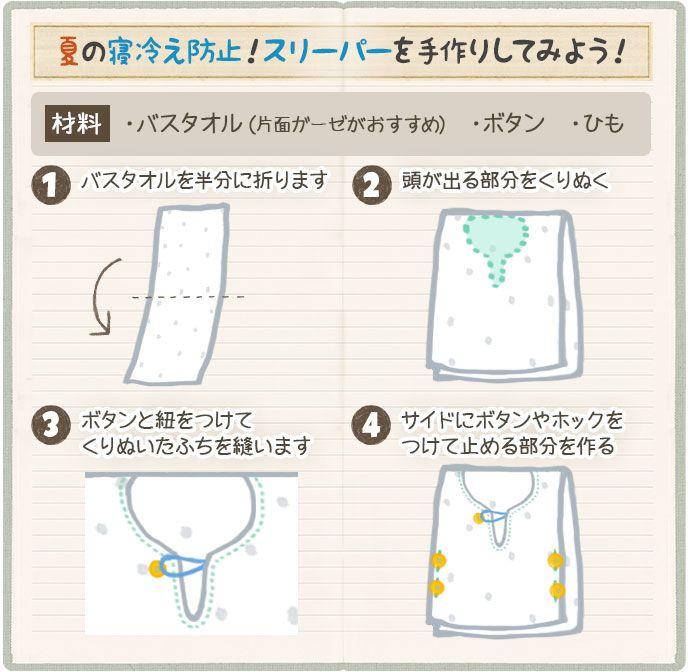 赤ちゃんが着るスリーパーの手作り方法