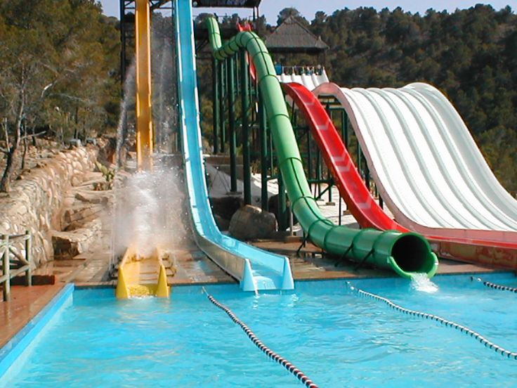 Big Bang at Benidorm's Aqualandia waterpark - In fact it's made of four different tubes that take you to the highest speeds in unpredictable ways.....check