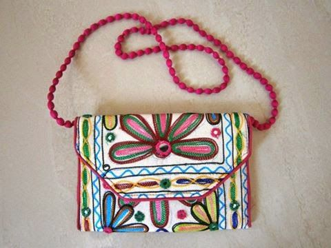 Beautiful Embroidery Sling Bag For more collection n detail whatsapp on 08866233933 #slingbag #handbag #gift #fashion #traditionalbag #designerbag#embroidery #indian
