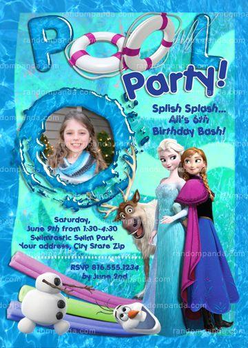 Disney Frozen Invitations Frozen Invitations And Pool
