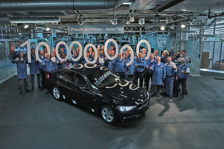 10-миллионный BMW 3 серии сошел с конвейера на заводе в Мюнхене  Десятимиллионный седан BMW 3 серии сошел с конвейера на заводе BMW в Мюнхене. Всего BMW Group произвела более 14 миллионов автомобилей этой серии, более половины из которых – седаны. Десятимиллионным экземпля