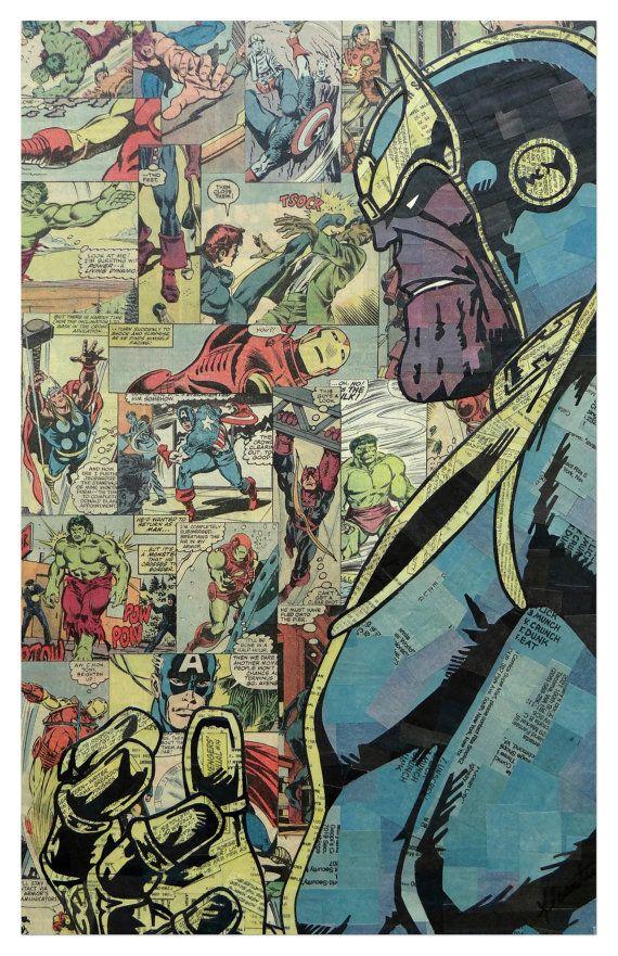 Comic Collage Art