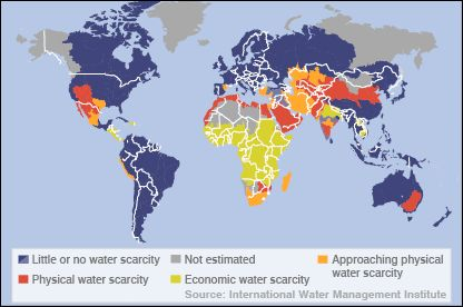 Water scarcity in the world today.  Chapter 1 Water is LIfe