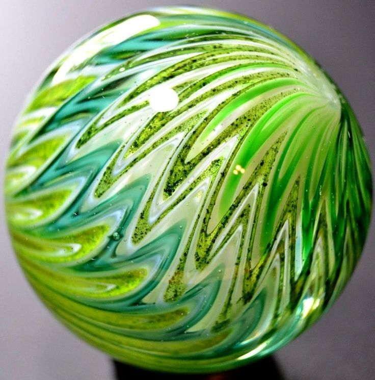 "SAMMY HOGUE Handmade Art-Glass Marble - 1.687"" Huge Hogue Toe-Breaker-Psychedelic Green - Green Lutz,Grass,Teal, Lime,Celery,Forest,Sage+Olive | Signed ""Sam Hogue 2016"" | on eBay♥•♥•♥FANTASTIC♥•♥•♥"