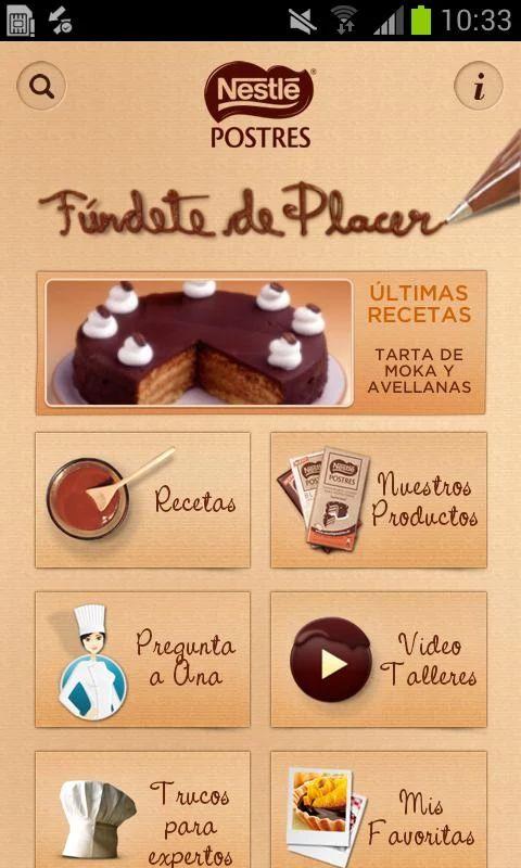 Nestlé Postres - screenshot