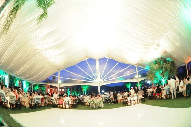 White Wedding - use light to add a little color. http://www.creativetent.us/markets-served/large-events.html