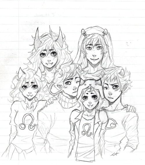 Oh my gosh. The sufferer and disciple if they had Kankri and Karkat and meulin and Nepeta as kids. I love this!